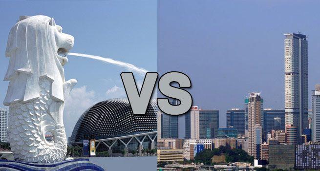 สิงคโปร์กับฮ่องกง :